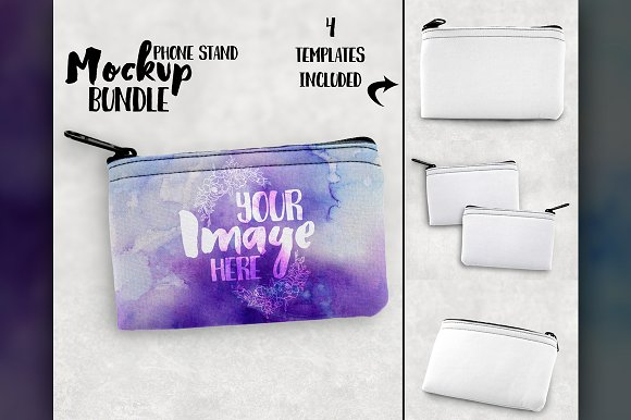 Sublimation Coin Pouch Mockup