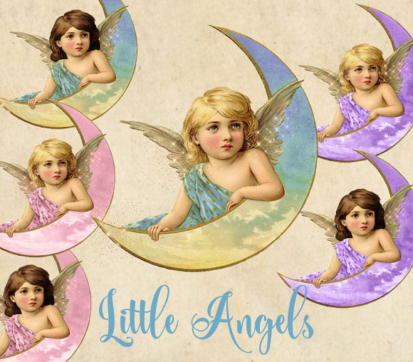 Little Angels Vintage Clipart
