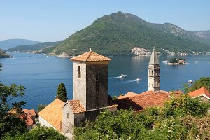 View of town Perast, Montenegro