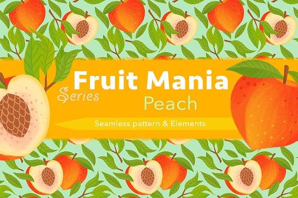 Peach Pattern Element Set
