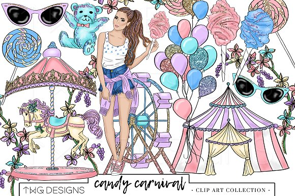 Fashion Girl Carnival Clip Art