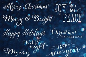Christmas Wording vol.1 - overlays