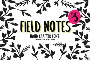 $5 Field Notes HandCrafted Font