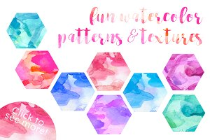 Fun Watercolor Patterns & Textures