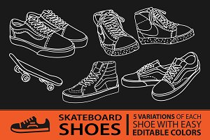 Shoes Line Art_Shoes Illustrations
