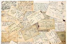 vintage handwritten postcards