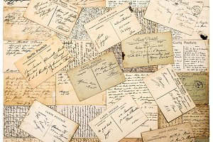 vintage handwritten postcards