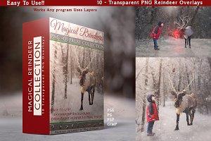 10 - PNG -Reindeer Overlays