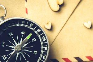 Vintage compass