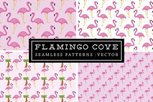 50% off Flamingo Seamless Patterns