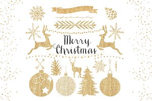 Gold Christmas Clipart
