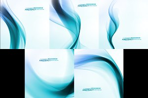Set of Abstract blue backgrounds