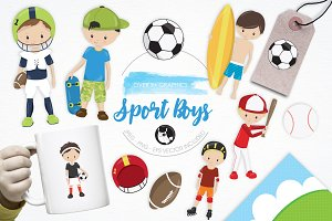 Sport Boys illustration pack