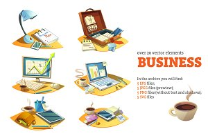 Business Cartoon Set