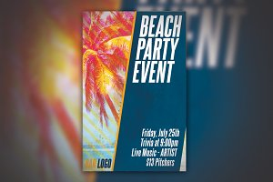 Beach Party Event Poster