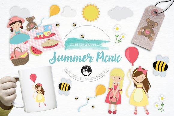 Summer Picnic Illustration Pack