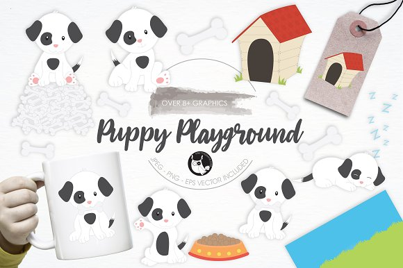Puppy Playground Illustration Pack