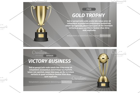 Gold Trophy For Victory Business Illustration