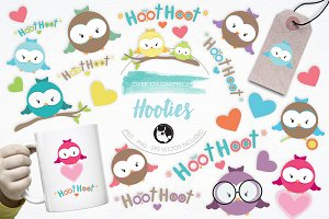 Hooties illustration pack