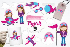 Flygirls illustration pack