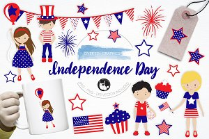 Independence Day Illustration pack