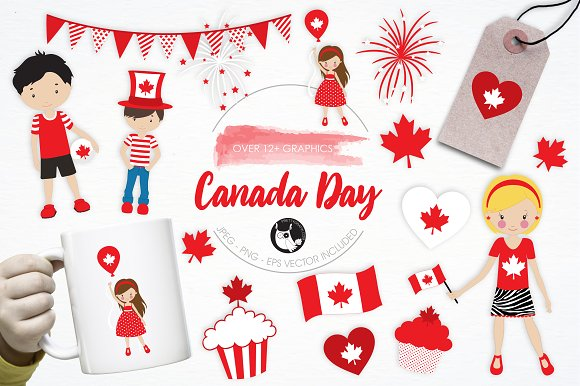 Canada Day Illustration Pack