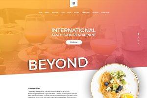 Beyond Restaurant Template PSD