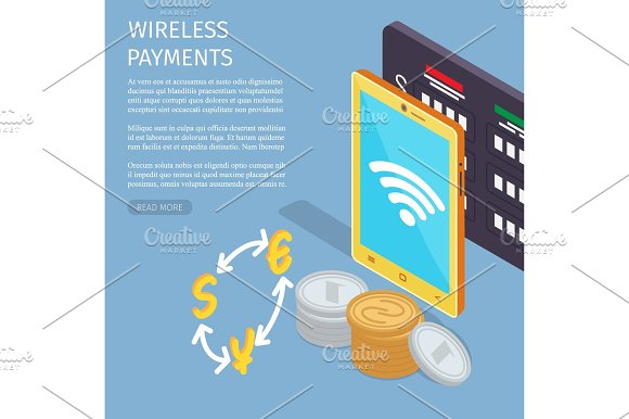 Wireless Payments Internet Info Page Illustration