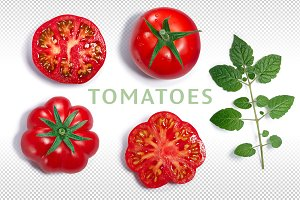 Tomatoes from above