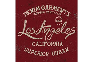 Vintage trademark with Los Angeles City text