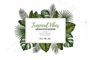 Tropical Vibes. Sketch vectors