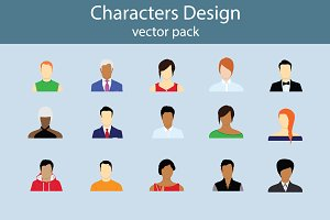 Character Design vector pack