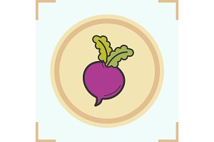 Beet color icon