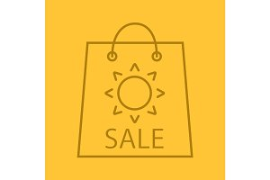 Summer sale color linear icon