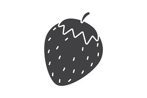 Strawberry glyph icon