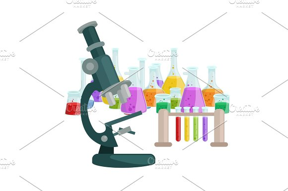 Chemistry Education Research Laboratory Equipment Science Lab Glass Tube Vector