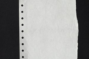 white paper texture background over black