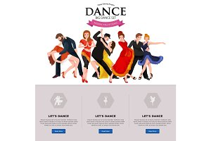 Dancing People, Dancer Bachata, Hiphop, Salsa, Indian, Ballet, Strip, Rock and Roll, Break, Flamenco, Tango, Contemporary, Belly Dance Pictogram Icon.  style of design concept set
