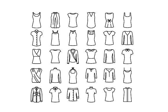 CLOTHES Vector Line Icons