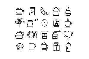 COFFEE - vector line icons