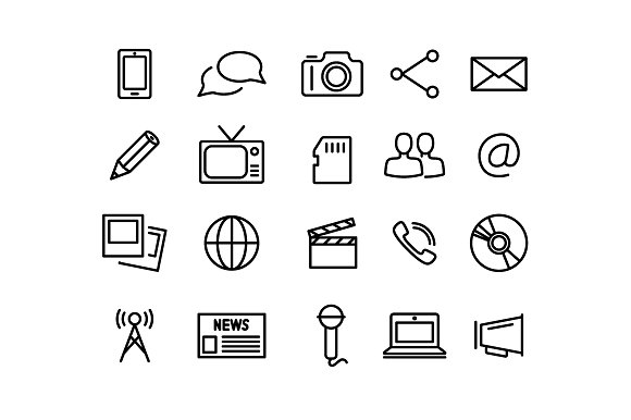 COMMUNICATION Vector Line Icons