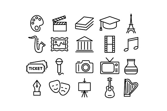 CULTURE Vector Line Icons