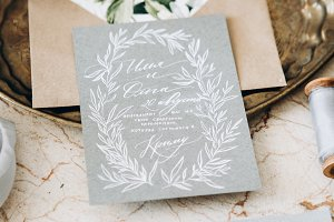 Wedding decor and calligraphy