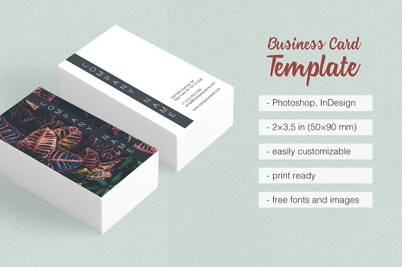 Travel Photographer Business Card Business Card Templates - Business card indesign template