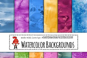 Watercolor texture backgrounds