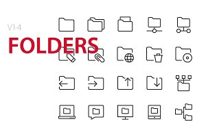 80 Folders UI icons