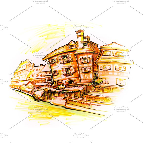 Half-timbered Houses In Colmar Alsace France