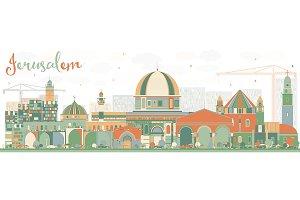 Abstract Jerusalem Skyline