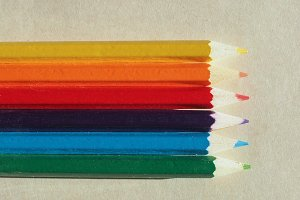 Many colour pencil