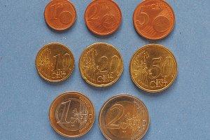 Euro coins, European Union, common side